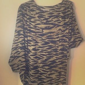 Rachel Roy Leopard Cheetah Print Top